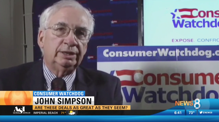 John Simpson tells KFMB that Amazon deals are not what they often claim