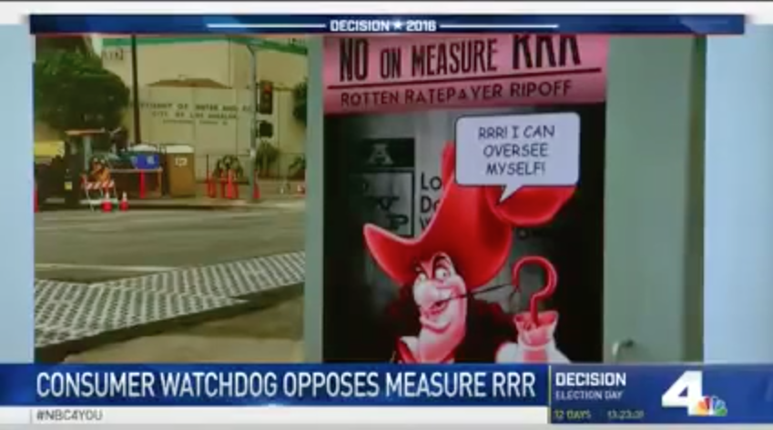Consumer Watchdog Says No on Measure RRR