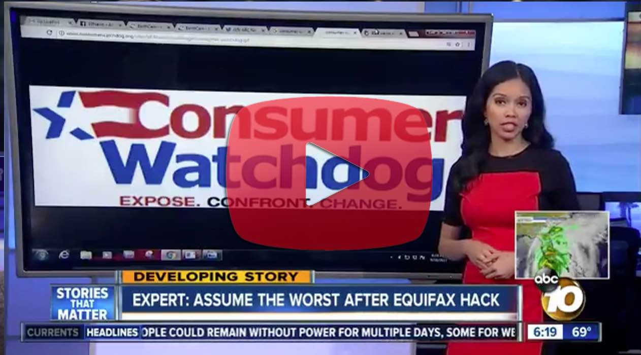 Consumer Watchdog report on ABC 10 San Diego