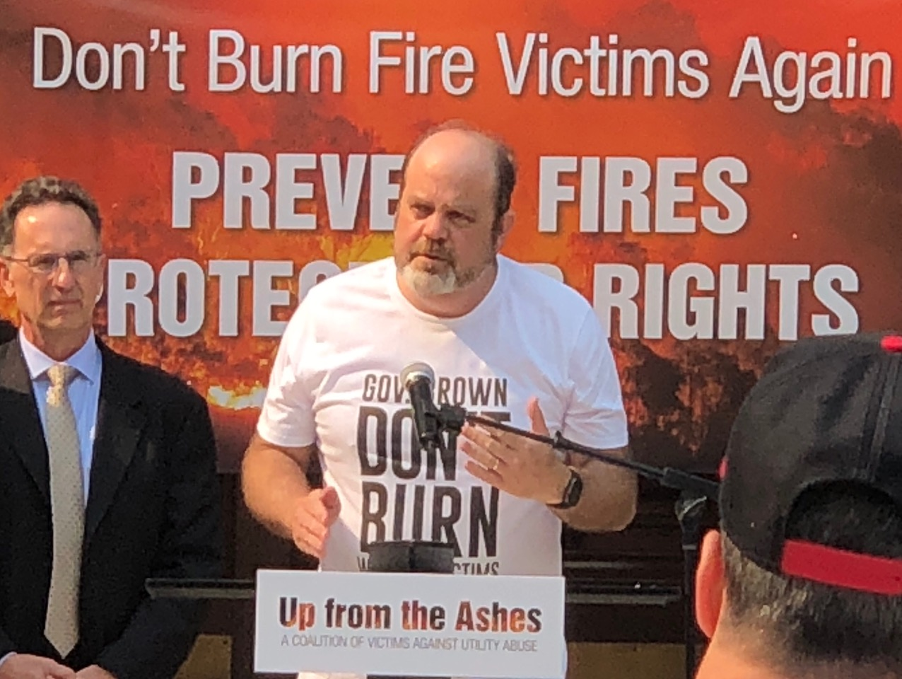Wildfire Victims Rally on Capitol Steps