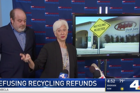 Liza Tucker says stores are failing to recycle