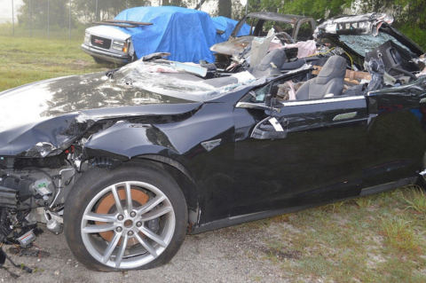 Tesla Crash