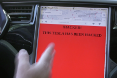 Hacked Tesla Screen